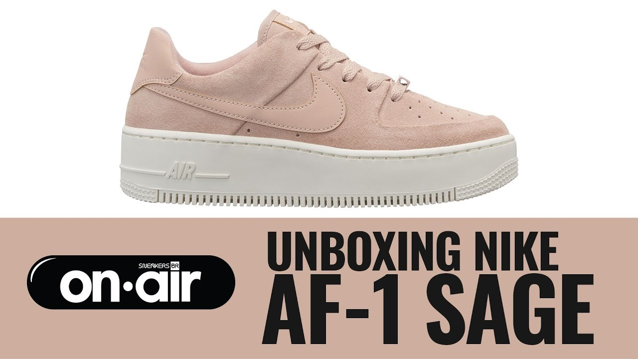 112f4ebbfbaf SBROnAIR Vol. 96 - Unboxing Nike Air Force 1 Sage  piranomeuair ...