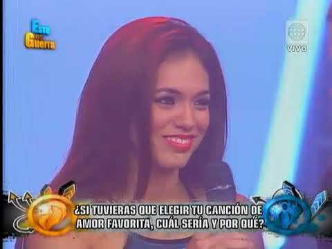Esto es guerra - Jazmin Pinedo canta su canción de amor favorita - 17-02-2015