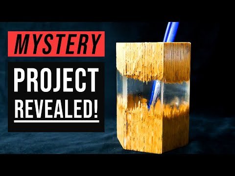 DIY Epoxy Resin Crafts | Make A Pencil Holder Out of Wood Part 4