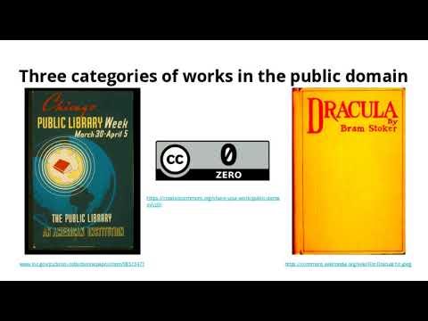Creative Commons & Public Domain Webinar - 3/15/2018