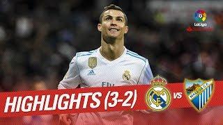 Resumen de Real Madrid vs Málaga CF (3-2)