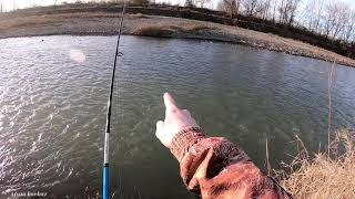 Зима Сунжа Природа Рыбалка