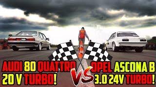 Das RENNEN! - Marcos Audi 80 VS Jacos Opel Ascona - Ein Tag auf der 1/4 Meile!