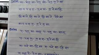 Prayer song notation(Suraj Chand Sitare)- Tutorial by Shashi Pandey