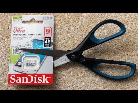 SanDisk Ultra 16GB micro SDHC UHS I card unboxing and speed test UP TO 48MB/s ??