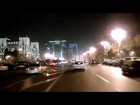Baku at night - Drive Trip - HD