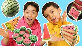신기한 수박 음식 총출동!!!! 수박쿠키 수박마카롱 수박 식빵 와~~대박!-Mashu ToysReview