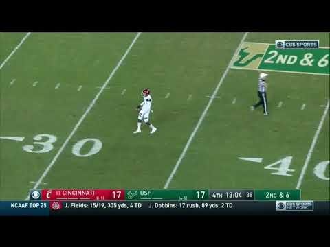 Football Highlights: Cincinnati 20, USF 17 (Courtesy CBS Sports)