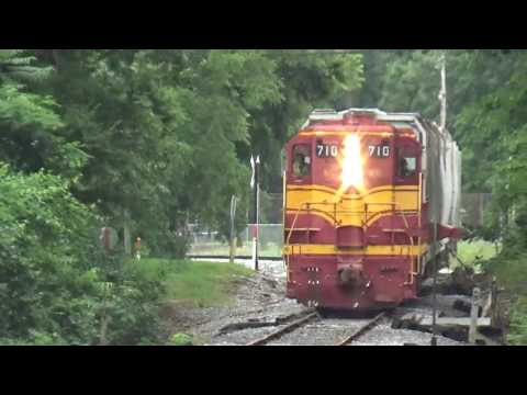 [TVRM Railcamp] NC&StL 710 freight move in Chickamauga GA