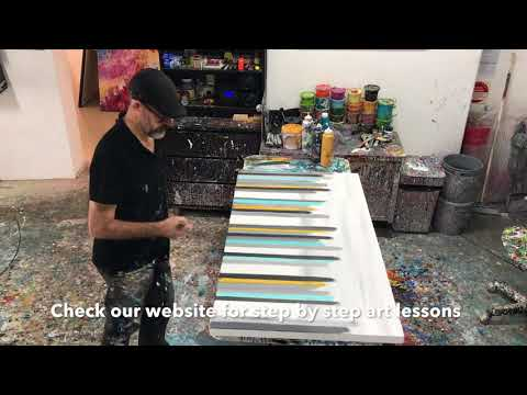 City Scape Rapid Painting Demo Abstract Artwork Ideas Examples