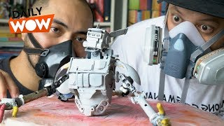 We make robo toys with household junk