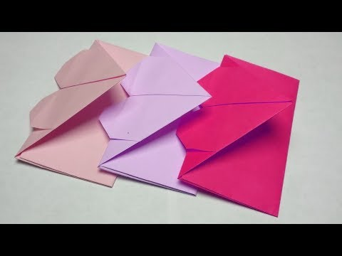 Valentenis Day Origami heart envelope-Handmade paper crafts for lovers