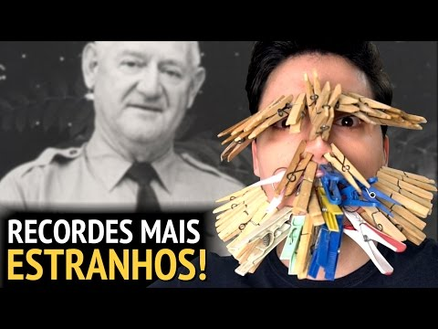 Thumbnail: OS RECORDES MAIS ESTRANHOS DO MUNDO!