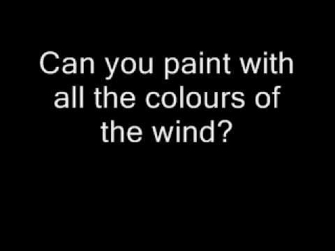 Pocahontas - Colours Of The Wind lyrics