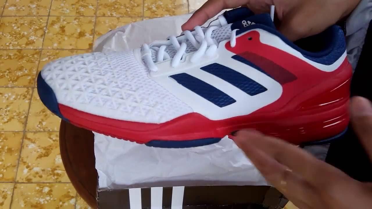 Sepatu Tenis Adidas Adizero Club White AQ2409 Unboxing - YouTube 3e1572b97
