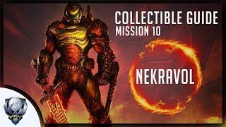 Doom Eternal (Mission 10 NEKRAVOL) All Collectibles, Upgrades, Secret Encounters & Extra Lives