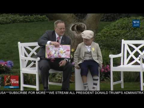 Thumbnail: BASED: Press Secretary Sean Spicer Reads an Easter Bunny Book at White House Easter Egg Roll Event