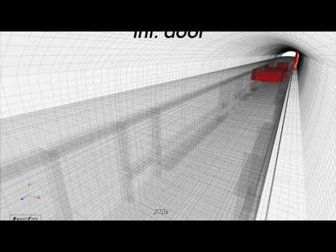 Fire Simulation on a train in a tunnel - part 1 conventional cars