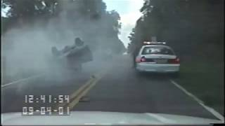 Police Chase Ends in Violent Wreck (09/04/01)