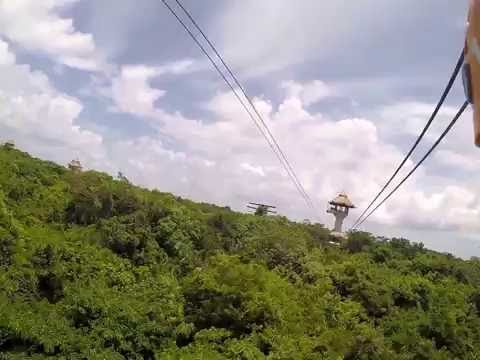 United Yacht Sales Spencer Christopher Division Ziplining in Mexico