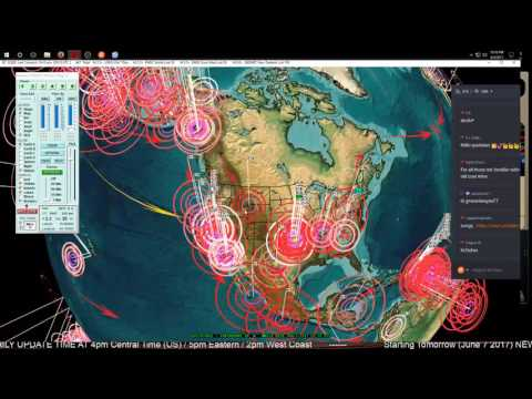 6/06/2017 -- Seismic pressure spreading -- West coast USA earthquake watch