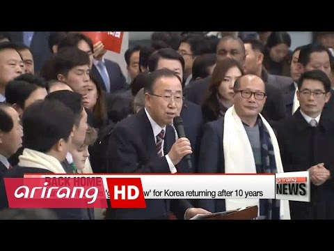 Former UN chief Ban Ki-moon receives warm welcome home in Korea