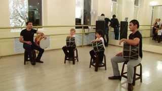 Доули - игра на кавказском барабане
