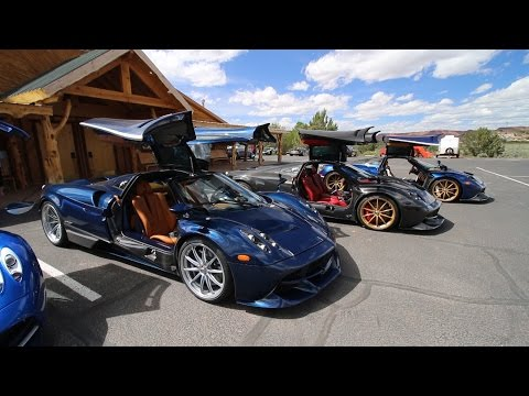 Chasing 5 Pagani Huayras in a Lamborghini Aventador SV