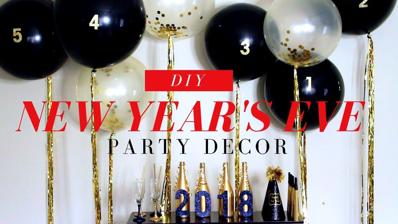 Balloon Backdrop Diy New Years Eve Party Decor Youtube