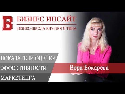 БИЗНЕС ИНСАЙТ: Вера Бокарева. Показатели оценки эффективности маркетинга