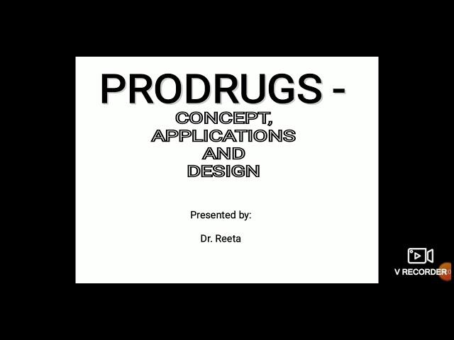 Prodrug (part 1) 6th semester
