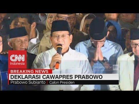 Prabowo Pilih Sandiaga Uno Jadi Cawapres, Deklarasi PKS, Gerindra, & PAN