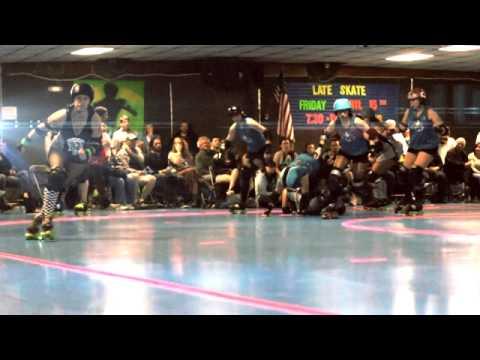 Durango Roller Girls Vs. FOCO Girls Gone Derby IN SLOW MO!