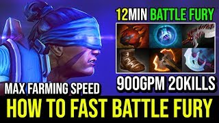 MAX FARMING SPEED [Anti Mage] How to Fast Battle Fury 12Min Monster 21KIlls 900GPM By Fn | Dota 2