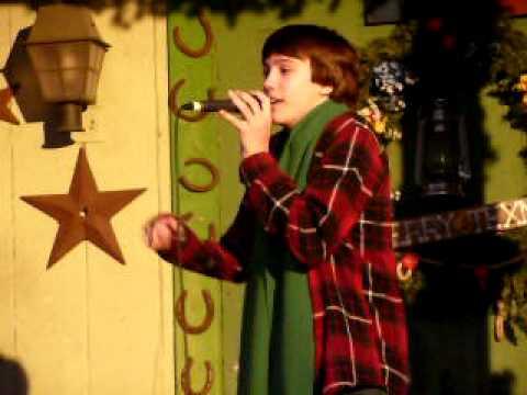Trevor Haueisen, age 13, singing Step Into Christmas by Elton John.