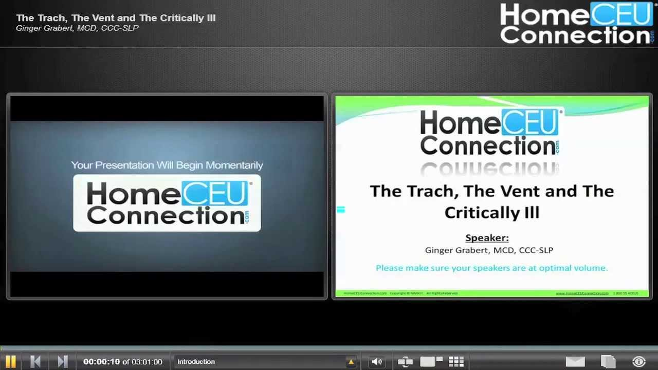 The Trach The Vent And The Critically Ill Youtube