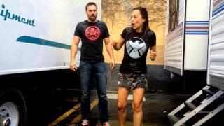Ming-Na Wen & Brett Dalton Ice Bucket Challenge