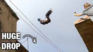 Insane Flip Over Roof Gap In Turkey!! (World's best parkour athletes)