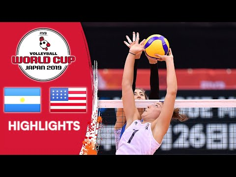 ARGENTINA vs. USA - Highlights | Women's Volleyball World Cup 2019