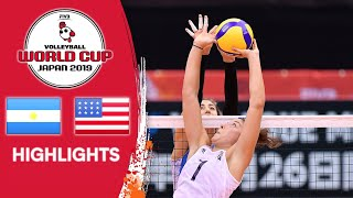 ARGENTINA vs. USA - Highlights   Women's Volleyball World Cup 2019