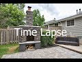 AWESOME! Outdoor Fireplace Construction Time Lapse