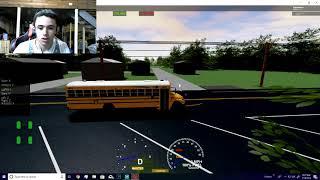 ROBLOX, SCHOOL BUS SIMULATOR, TRYING THE BLUEBIRD VISION BUS