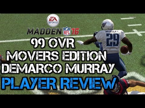 99 OVR Movers DeMarco Murray | Player Review | Madden 16 Ultimate Team Gameplay | MUT 16