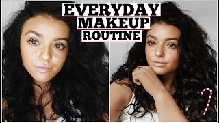 WINTER GRWM! My Everyday Makeup   Vlogmas 18