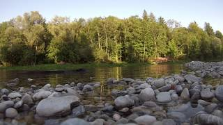 Munich Isar Skipping Rocks - Most Relaxing Video