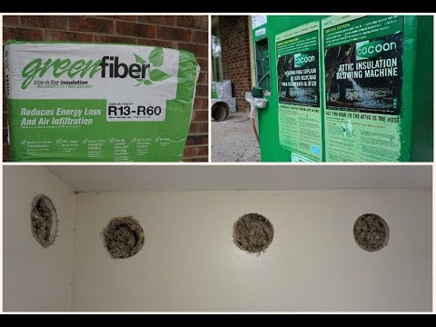 Green Fiber Cellulose Soundproofing and Insulation
