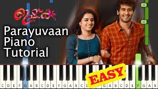 Parayuvaan Piano Tutorial Notes & MIDI | Ishq | Malayalam Song