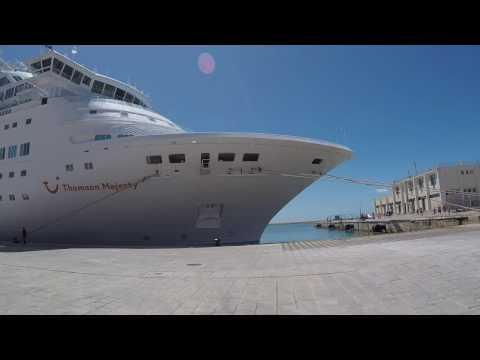 Valletta, Malta Thomson Majesty Cruise Ship GoPro HD