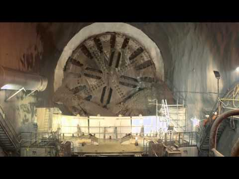 Tunnel Boring Machine Time Lapse Burial