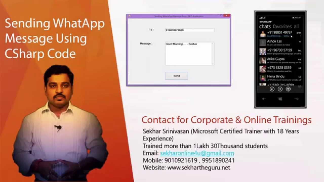 Sending WhatsApp Message using C# Code